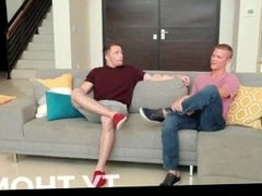Sexy gays fucking assholes on the couch