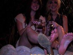 Drunk Girls Show Off Their Sexy Feet