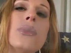 nice trans girl smoking and playing