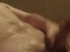 Teen jerks his hard dick in the shower