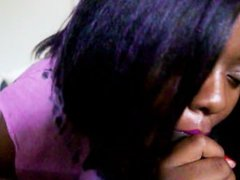 POV EBONY BABE Tears Up While Deep Throating+ Eye-Rolling And Moaning