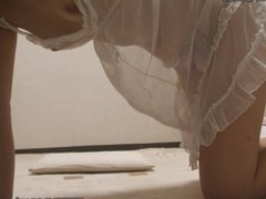 Japanese teens room to peep for 24h. Her naked and waking up