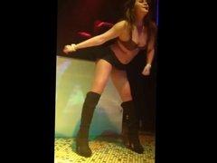 Dancing girl mini-skirt and pantyhose