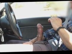 BIG Asian Cock cum on the road