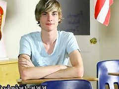 Teen gay on leather couch Preston Andrews