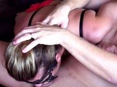 Painful anal - deepthrot - deep throat cum - homemade
