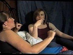 smoking and talking