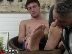 Black gay man sucking toes Logan's Feet & Socks Worshiped