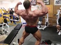 Young IFBB Pro Cody Montgomery Flexes For Judges Opinion