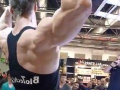 Peter Molnar Flexing For Fans When They Beg him to take shirt off