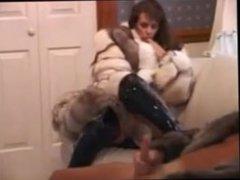 Lesbian fur orgasm