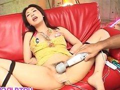 Hatsumi Kudo gets sex toys in creamy vagina