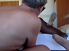 Hot wife fucks black dude while cuck hubby watches and films