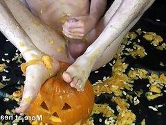 Dude Fucks Halloween Pumpkin