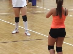 Volleyball girl warming up