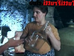 big tits hairy fat mom in the wine cellar