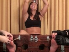 Booth Babe Monica Punished!