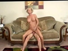 Sexy blonde short haired mature milf fucks hard (MC)