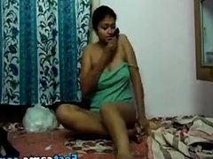 Poor indian girl making an erotic show
