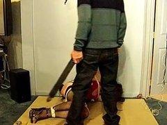 Crossdresser slave begs for mercy