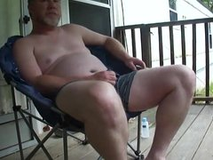 Verbal Redneck Daddy Porch Jerk Off & Cum