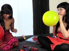 Magic Balloon Popping Breast Expansion Competition - Blowing Balloons BTS!