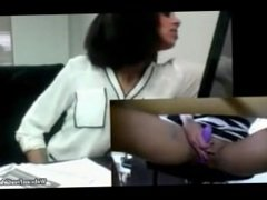 Real Indian Desi Almost Caught Squirting And Masturbating In Public Office