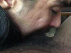 Black Cock Deepthroat Suck