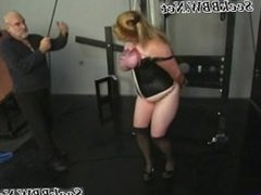 Poor BDSM Slave Woman gets Her Giant Tits Tortured wit
