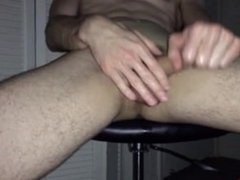 Straight guy showing off his cock