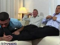Handsome boys hairy leg and cock gay Ricky Worships Johnny &