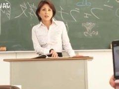 Japanese AV teacher satsuki kirioka ass & hairy pussy groped by students !