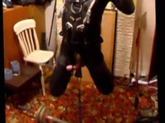 Slave Latex Encased Suspended Electro