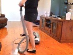 Vacuum House in Ballet Flats - Fetish Clip