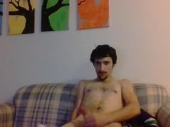 hot young sexy guy jerking for fun
