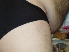 z Me in my Black Shiny Nylon Panties