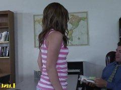 Naugty schoolgirl Dakoda Brookes learns her lesson
