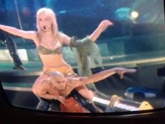 Britney Spears cum tribute 4 tv's full of Britney