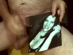 Tribute for bob43214 - cum on face mouth and big tits