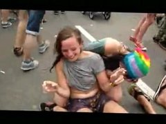 Wasted Girls Gone Wild During Rave Festival