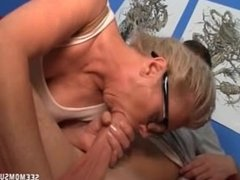 Mature Woman Sucks The Big Cock