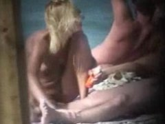 Vintage Nude Beach Handjob