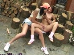 Big tit lesbian bdsm and gorgeous blonde teen anal Cutting wood and