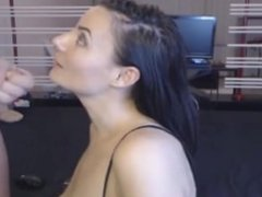 Hot Babe Gets Her Face Full Of Hot Jizz more at FreeSexyCamWhores_com
