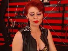 Seductive Red Head Dom Milf Smoking On Cam