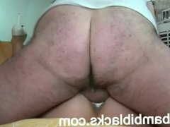 BAMBIBLACKS CUMSLUT TAKES CREAMPIES IN ALL HOLES