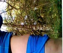 Lycralover wanking in the woods