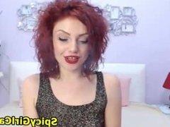 Nice Redhair Babe Smoking Webcam 1f