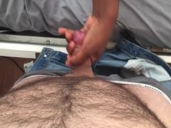 Pants unzip and handjob