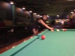 Jeny Smith - Playing pool at first time!